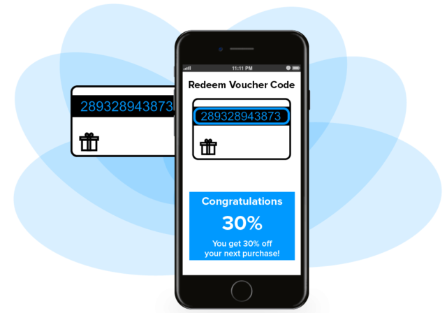 Anline OCR for reading voucher codes and debit card numbers